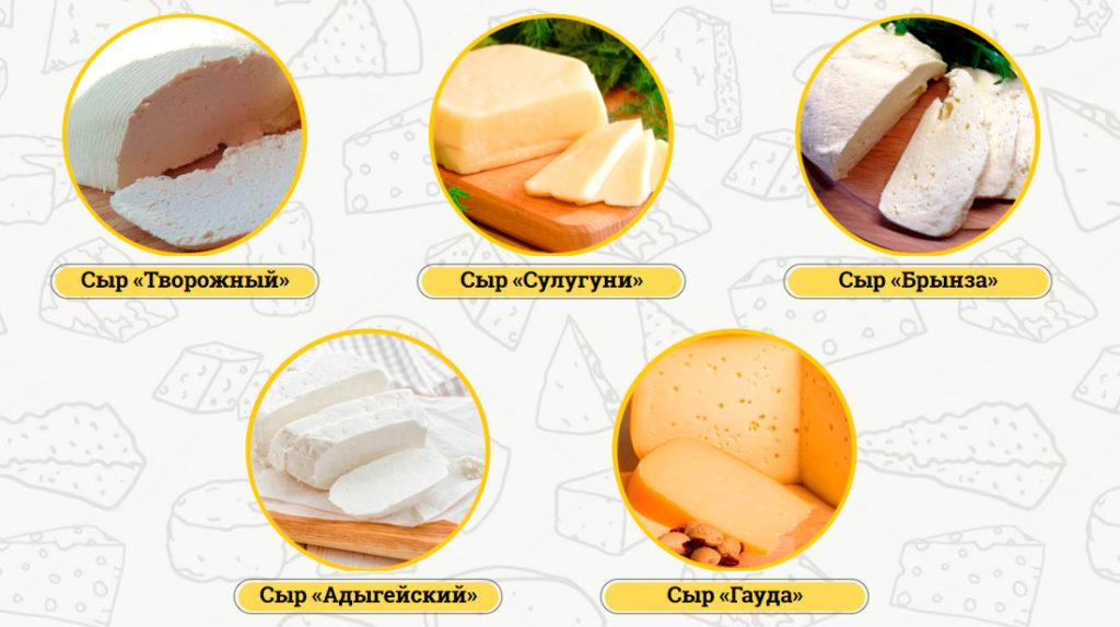 типы сыра после приготовления русского фермера